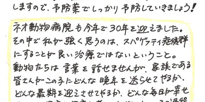 2018年3月度わんちゃんコラム(7歳以上)